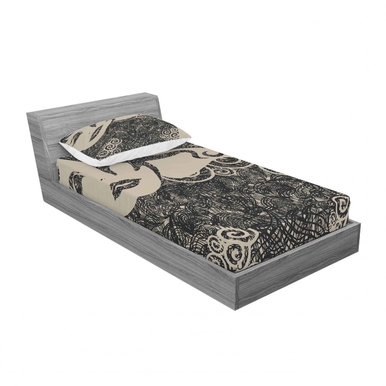 thumbnail 237 - Ambesonne Modern Design Fitted Sheet Pillow Sham Set Bedding Decor in 4 Sizes
