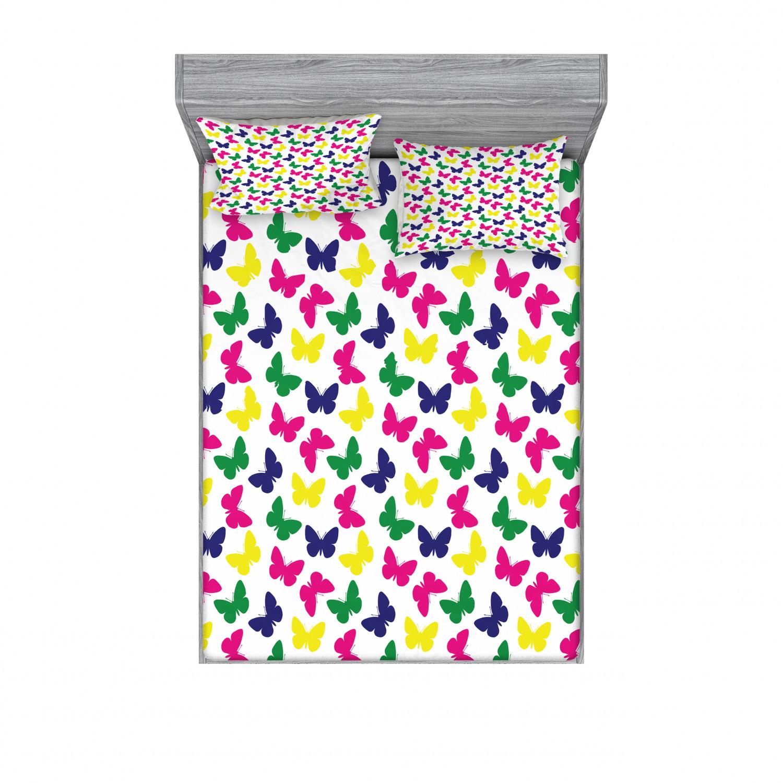 thumbnail 166 - Ambesonne Modern Design Fitted Sheet Pillow Sham Set Bedding Decor in 4 Sizes
