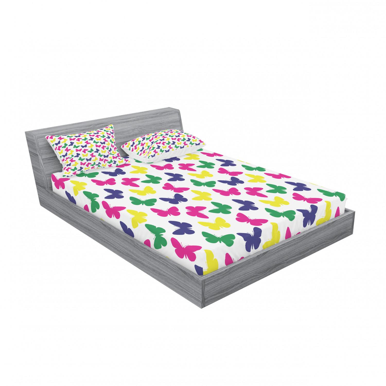 thumbnail 167 - Ambesonne Modern Design Fitted Sheet Pillow Sham Set Bedding Decor in 4 Sizes