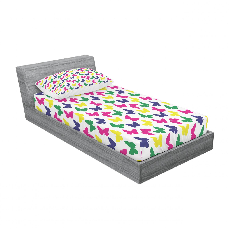 thumbnail 165 - Ambesonne Modern Design Fitted Sheet Pillow Sham Set Bedding Decor in 4 Sizes