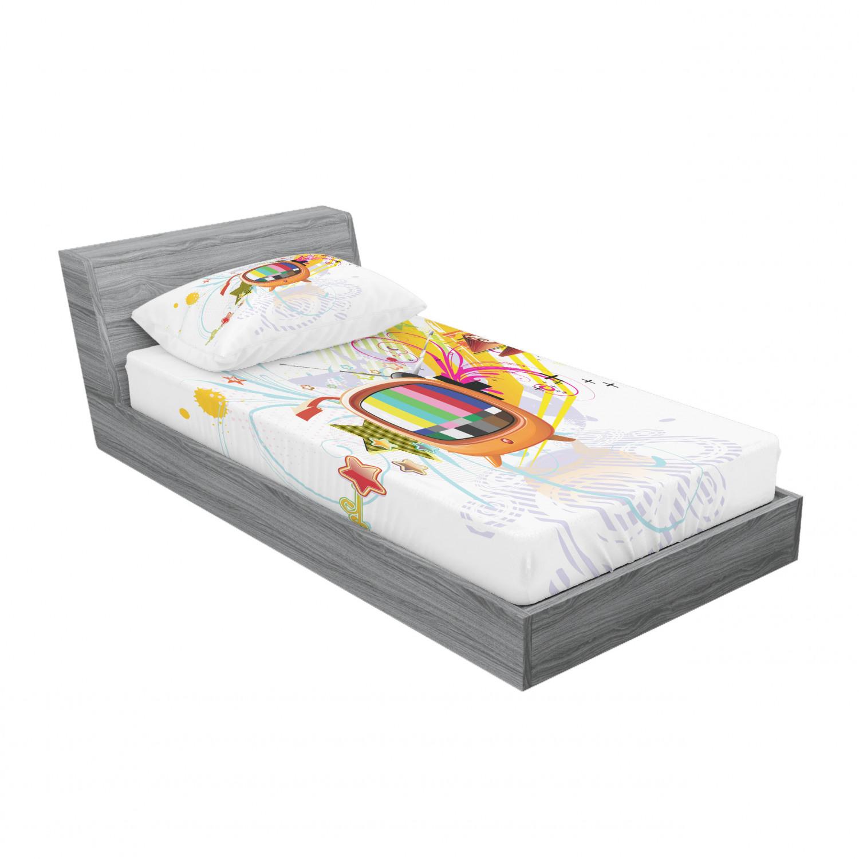 thumbnail 45 - Ambesonne Modern Design Fitted Sheet Pillow Sham Set Bedding Decor in 4 Sizes
