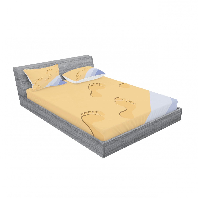 thumbnail 59 - Ambesonne Modern Design Fitted Sheet Pillow Sham Set Bedding Decor in 4 Sizes