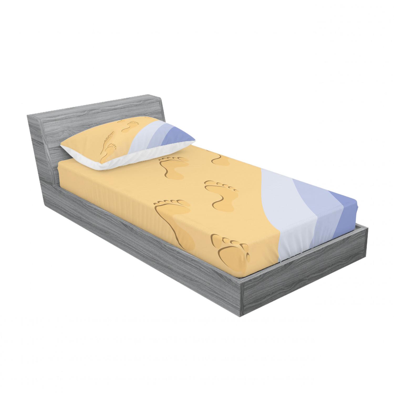thumbnail 57 - Ambesonne Modern Design Fitted Sheet Pillow Sham Set Bedding Decor in 4 Sizes