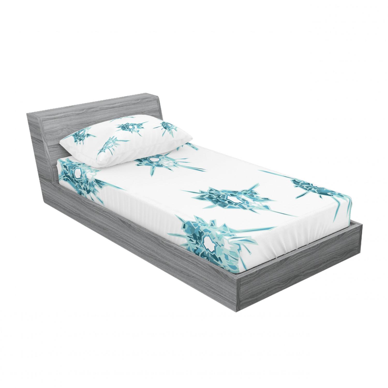 thumbnail 37 - Ambesonne Modern Design Fitted Sheet Pillow Sham Set Bedding Decor in 4 Sizes