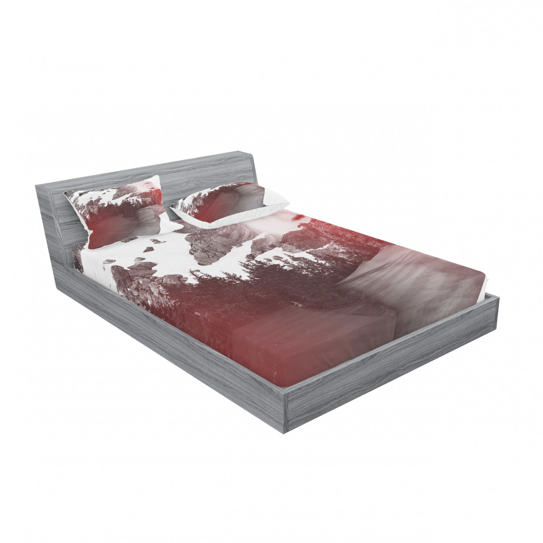 thumbnail 231 - Ambesonne Modern Design Fitted Sheet Pillow Sham Set Bedding Decor in 4 Sizes