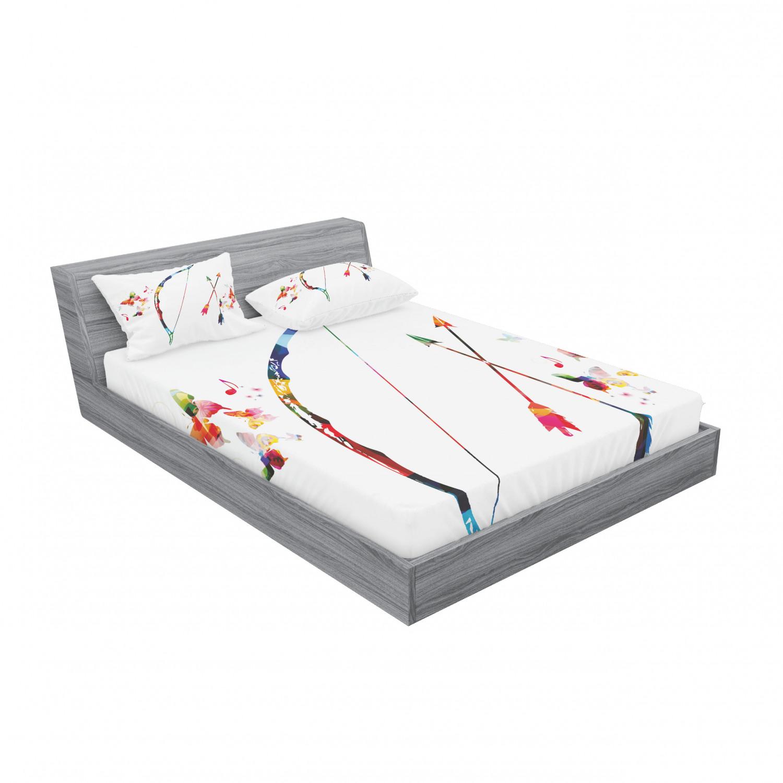 thumbnail 7 - Ambesonne Modern Design Fitted Sheet Pillow Sham Set Bedding Decor in 4 Sizes