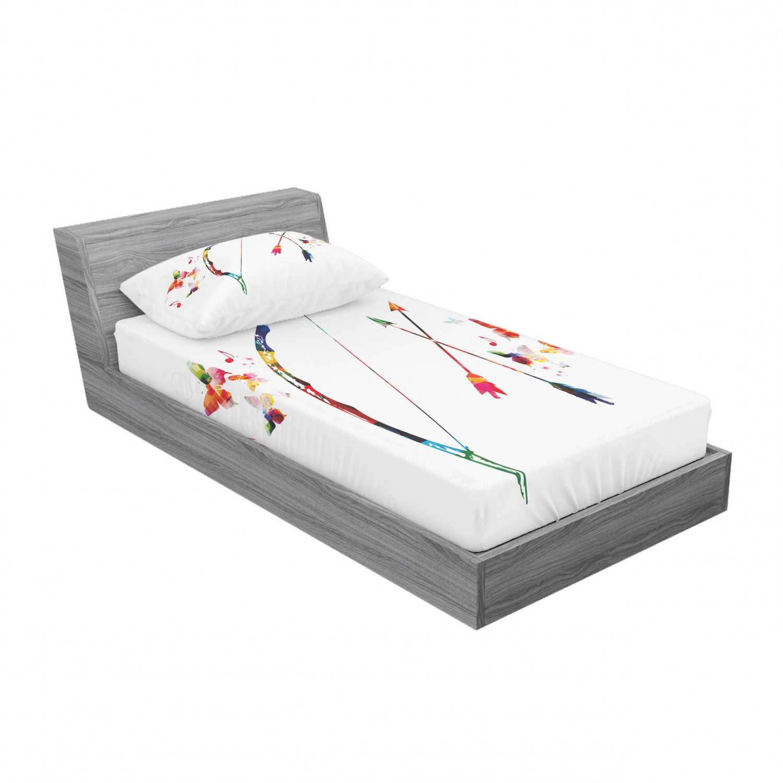 thumbnail 5 - Ambesonne Modern Design Fitted Sheet Pillow Sham Set Bedding Decor in 4 Sizes