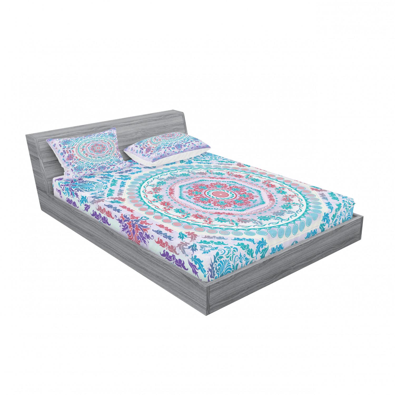 thumbnail 71 - Ambesonne-Mandala-Fitted-Sheet-Pillow-Sham-Set-Bedding-Decor-in-4-Sizes