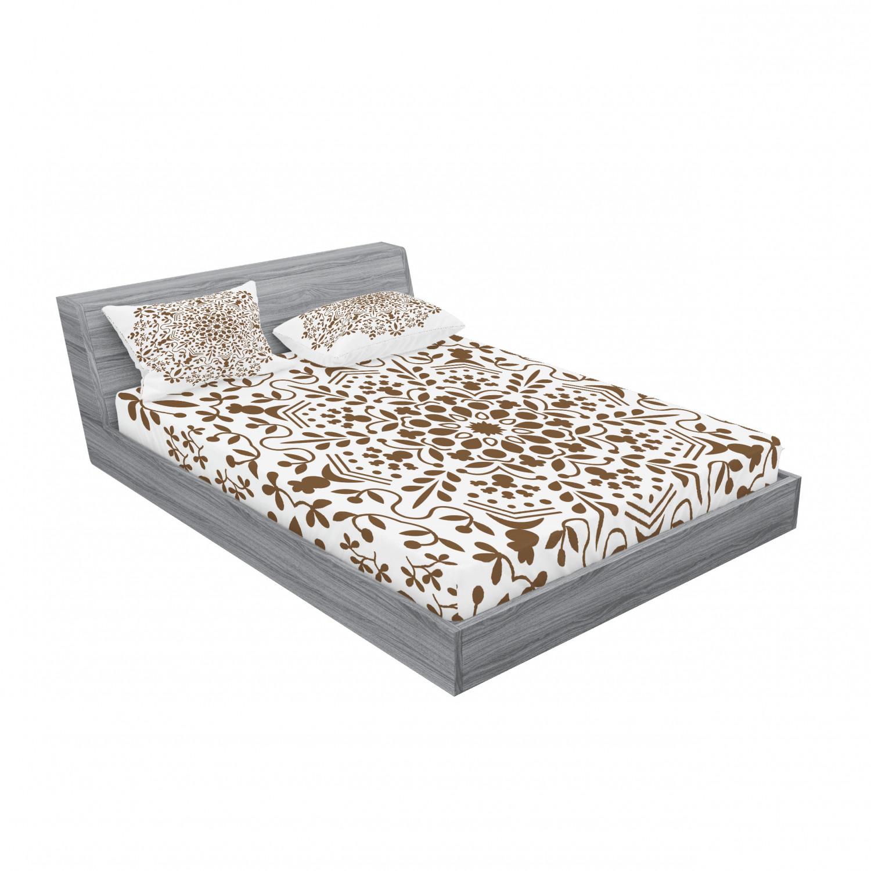 thumbnail 7 - Ambesonne-Mandala-Fitted-Sheet-Pillow-Sham-Set-Bedding-Decor-in-4-Sizes