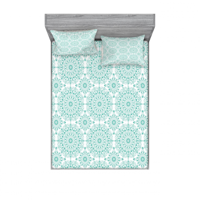 thumbnail 146 - Ambesonne-Mandala-Fitted-Sheet-Pillow-Sham-Set-Bedding-Decor-in-4-Sizes