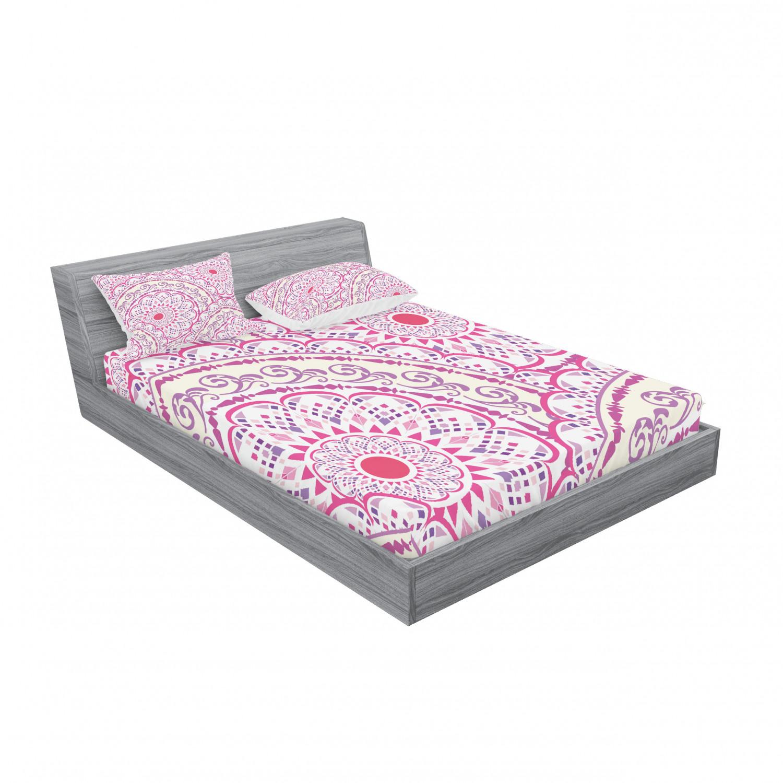 thumbnail 111 - Ambesonne-Mandala-Fitted-Sheet-Pillow-Sham-Set-Bedding-Decor-in-4-Sizes