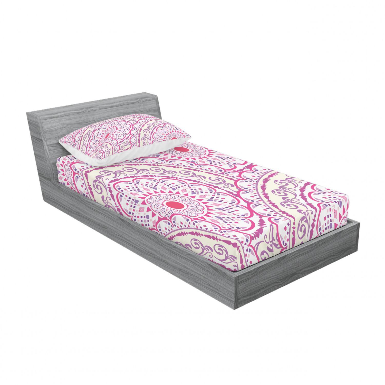 thumbnail 109 - Ambesonne-Mandala-Fitted-Sheet-Pillow-Sham-Set-Bedding-Decor-in-4-Sizes
