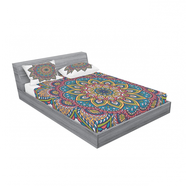 thumbnail 43 - Ambesonne-Mandala-Fitted-Sheet-Pillow-Sham-Set-Bedding-Decor-in-4-Sizes