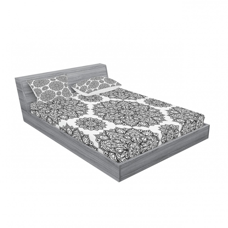 thumbnail 135 - Ambesonne-Mandala-Fitted-Sheet-Pillow-Sham-Set-Bedding-Decor-in-4-Sizes