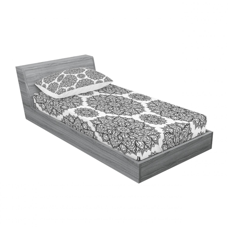thumbnail 133 - Ambesonne-Mandala-Fitted-Sheet-Pillow-Sham-Set-Bedding-Decor-in-4-Sizes