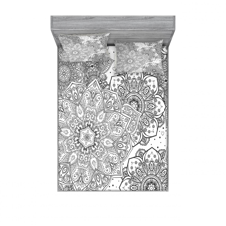 thumbnail 58 - Ambesonne-Mandala-Fitted-Sheet-Pillow-Sham-Set-Bedding-Decor-in-4-Sizes