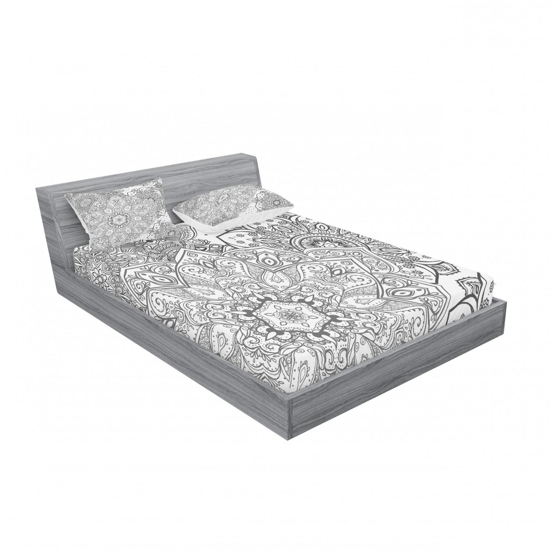 thumbnail 59 - Ambesonne-Mandala-Fitted-Sheet-Pillow-Sham-Set-Bedding-Decor-in-4-Sizes
