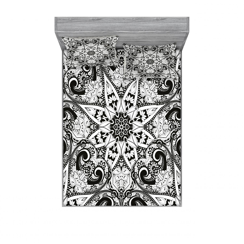 thumbnail 62 - Ambesonne-Mandala-Fitted-Sheet-Pillow-Sham-Set-Bedding-Decor-in-4-Sizes