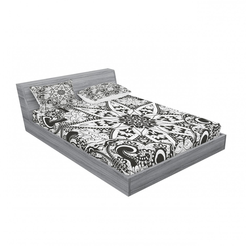 thumbnail 63 - Ambesonne-Mandala-Fitted-Sheet-Pillow-Sham-Set-Bedding-Decor-in-4-Sizes