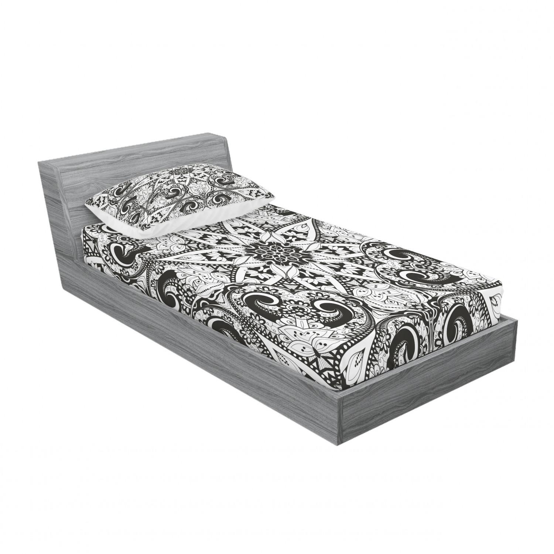 thumbnail 61 - Ambesonne-Mandala-Fitted-Sheet-Pillow-Sham-Set-Bedding-Decor-in-4-Sizes