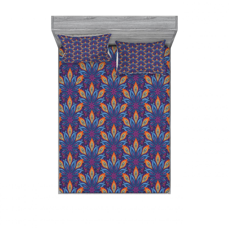 thumbnail 218 - Ambesonne-Mandala-Fitted-Sheet-Pillow-Sham-Set-Bedding-Decor-in-4-Sizes