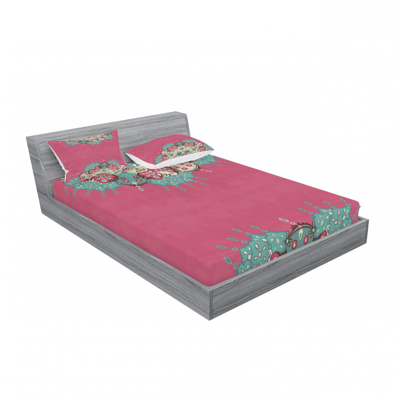 thumbnail 55 - Ambesonne-Mandala-Fitted-Sheet-Pillow-Sham-Set-Bedding-Decor-in-4-Sizes