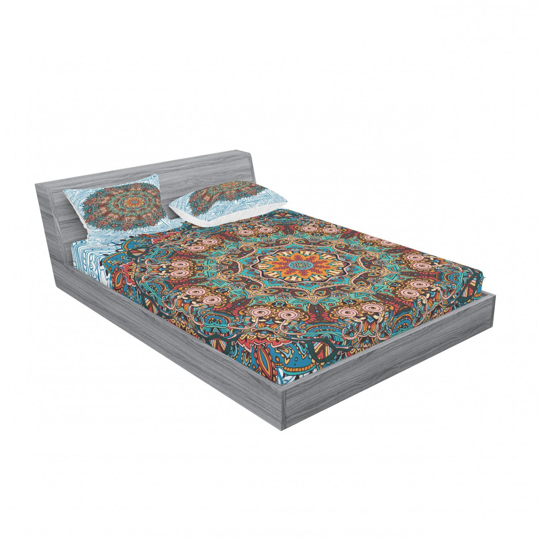 thumbnail 139 - Ambesonne-Mandala-Fitted-Sheet-Pillow-Sham-Set-Bedding-Decor-in-4-Sizes