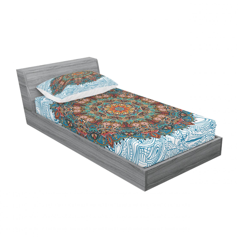 thumbnail 137 - Ambesonne-Mandala-Fitted-Sheet-Pillow-Sham-Set-Bedding-Decor-in-4-Sizes
