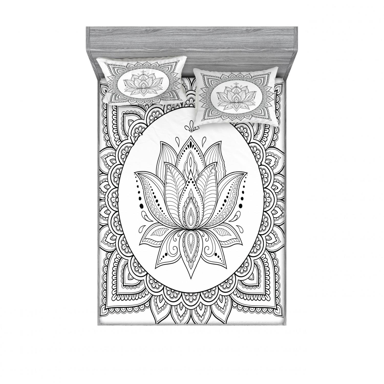 thumbnail 82 - Ambesonne-Mandala-Fitted-Sheet-Pillow-Sham-Set-Bedding-Decor-in-4-Sizes