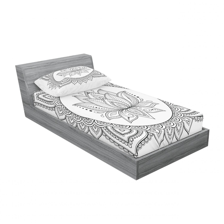 thumbnail 81 - Ambesonne-Mandala-Fitted-Sheet-Pillow-Sham-Set-Bedding-Decor-in-4-Sizes