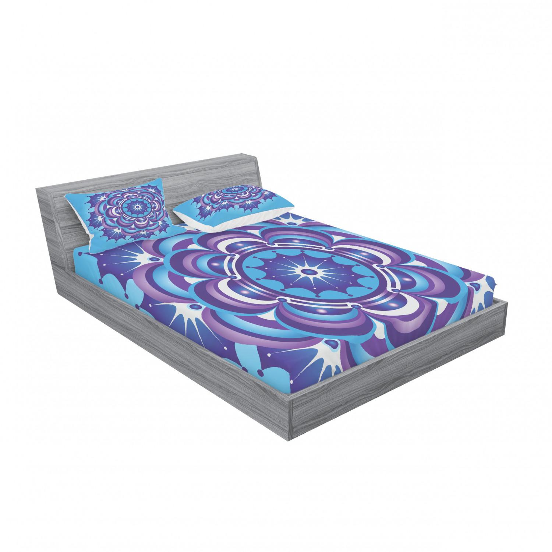 thumbnail 119 - Ambesonne-Mandala-Fitted-Sheet-Pillow-Sham-Set-Bedding-Decor-in-4-Sizes