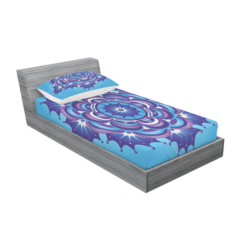 thumbnail 117 - Ambesonne-Mandala-Fitted-Sheet-Pillow-Sham-Set-Bedding-Decor-in-4-Sizes