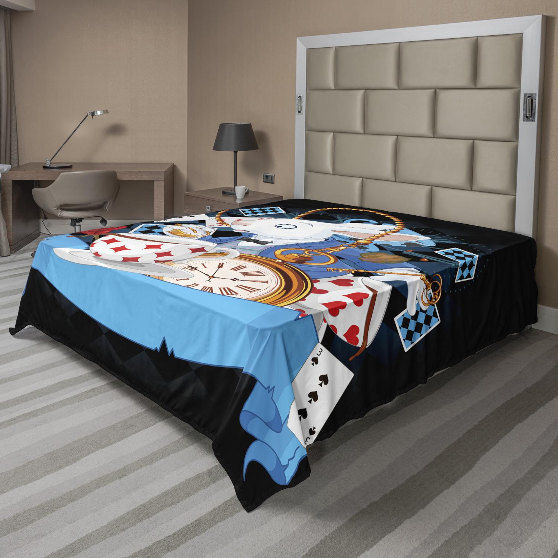Ambesonne Cartoon Flat Sheet Top Sheet Decorative Bedding 6 Sizes