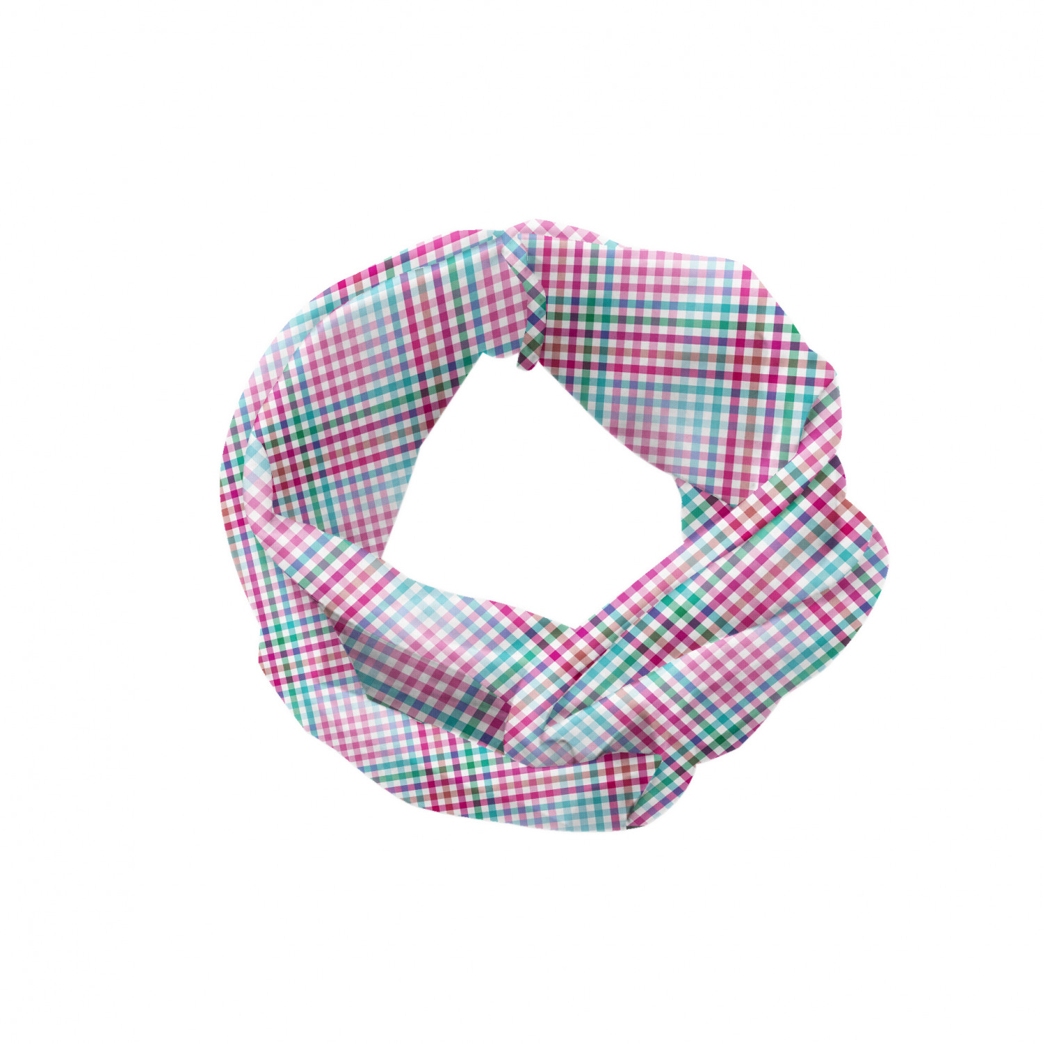 Ambesonne Geometric Head Scarf Hair Wrap Modern Nested Squares