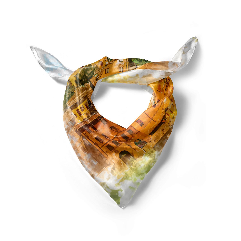 Hijab Scarf Ambesonne Digital Headscarf Trippy Vivid Deer