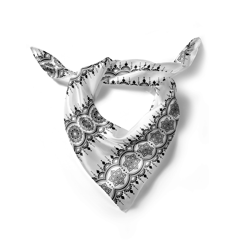 Hijab Scarf Brushstroke Work of Art Ambesonne Oriental Headscarf