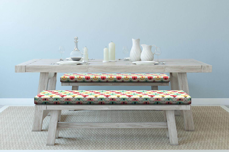 Ambesonne-Retro-Scene-Bench-Pad-HR-Foam-with-Fabric-Cover-45-034-x-15-034-x-2-034 miniatuur 122