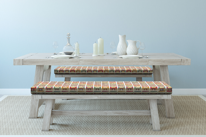 Ambesonne-Retro-Scene-Bench-Pad-HR-Foam-with-Fabric-Cover-45-034-x-15-034-x-2-034 miniatuur 130