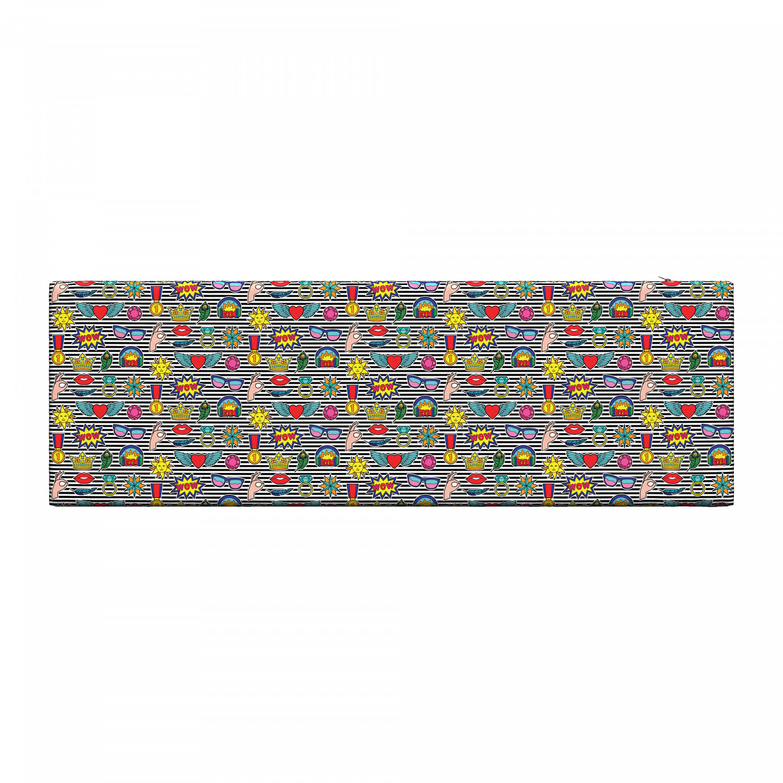 Ambesonne-Retro-Scene-Bench-Pad-HR-Foam-with-Fabric-Cover-45-034-x-15-034-x-2-034 miniatuur 173