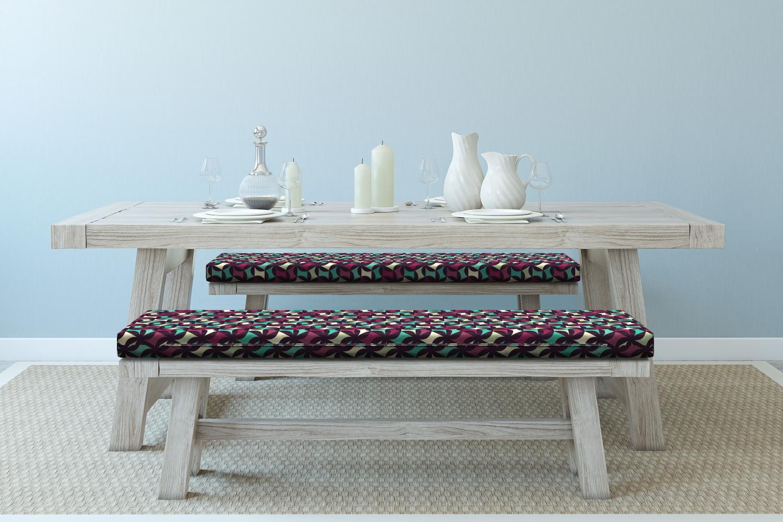 Ambesonne-Retro-Scene-Bench-Pad-HR-Foam-with-Fabric-Cover-45-034-x-15-034-x-2-034 miniatuur 30