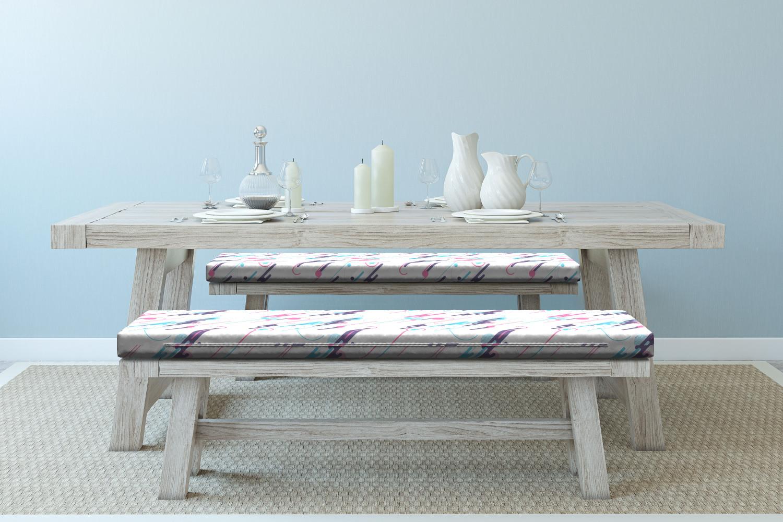 Ambesonne-Retro-Scene-Bench-Pad-HR-Foam-with-Fabric-Cover-45-034-x-15-034-x-2-034 miniatuur 78