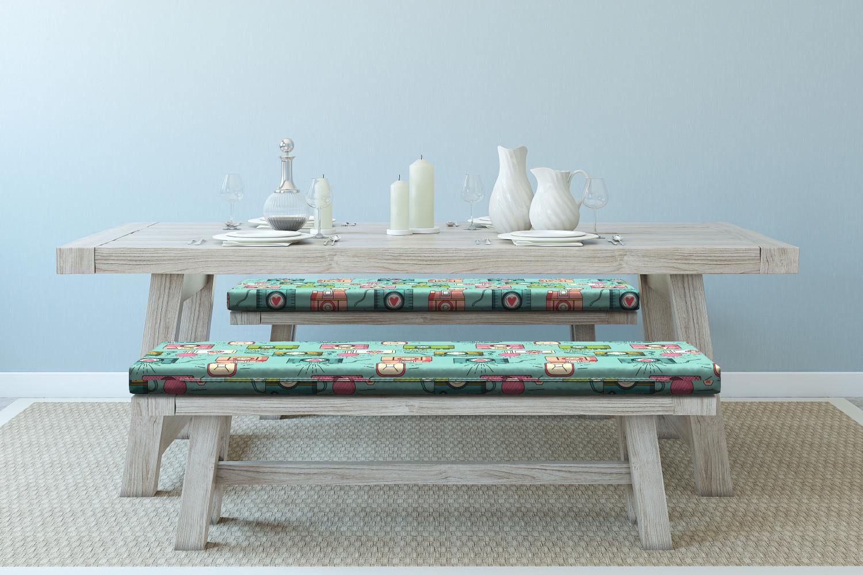 Ambesonne-Retro-Scene-Bench-Pad-HR-Foam-with-Fabric-Cover-45-034-x-15-034-x-2-034 miniatuur 114