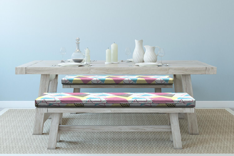 Ambesonne-Retro-Scene-Bench-Pad-HR-Foam-with-Fabric-Cover-45-034-x-15-034-x-2-034 miniatuur 154