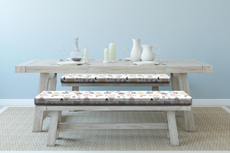 Ambesonne-Retro-Scene-Bench-Pad-HR-Foam-with-Fabric-Cover-45-034-x-15-034-x-2-034 miniatuur 102