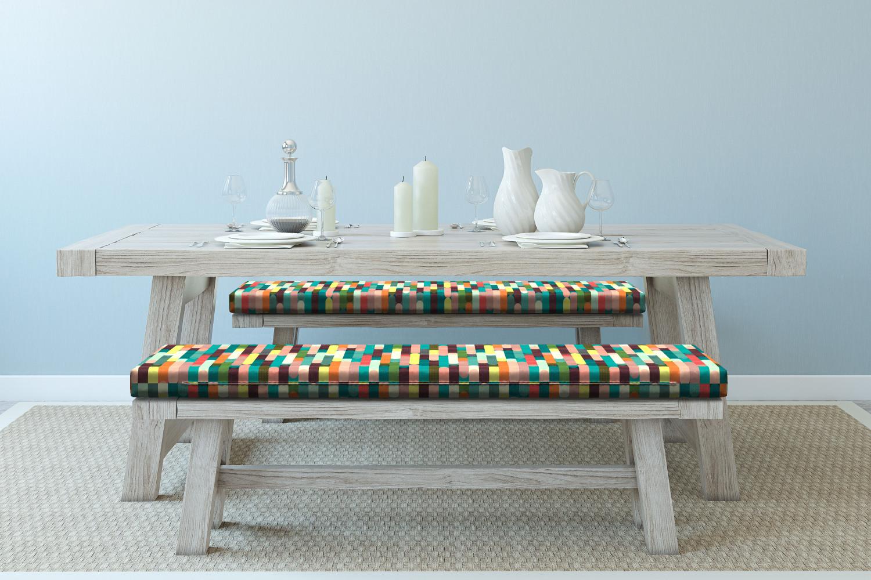 Ambesonne-Retro-Scene-Bench-Pad-HR-Foam-with-Fabric-Cover-45-034-x-15-034-x-2-034 miniatuur 66