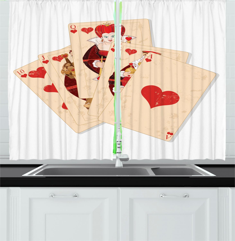 Details about Alice in Wonderland Kitchen Curtains 2 Panel Set Window  Drapes 55\