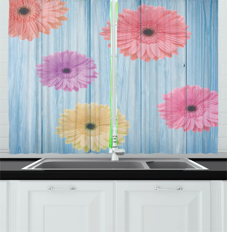 Details about Vintage Colorful Kitchen Curtains 2 Panel Set Window Drapes  55\