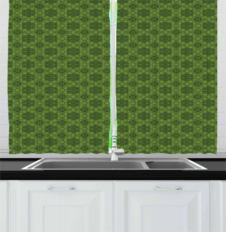 Details about Sage Kitchen Curtains 2 Panel Set Window Drapes 55\