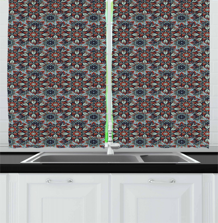 Classic Vintage Kitchen Curtains 2 Panel Set Window Drapes