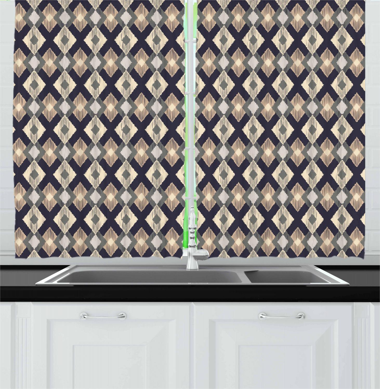 Asian-Oriental-Kitchen-Curtains-2-Panel-Set-Window-Drapes-55-034-X-39-034 thumbnail 29